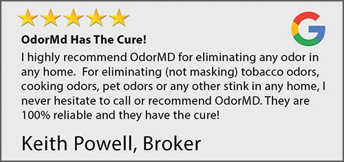 odor removal service - customer review